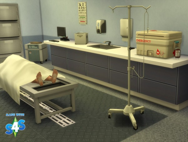 Mod The Sims: Blood drip to go for perfusion in hospital by Séri