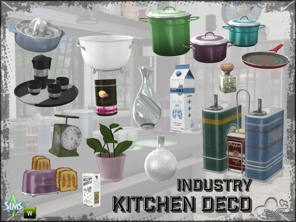 The Sims Resource: Kitchen Industry Decoration by BuffSumm