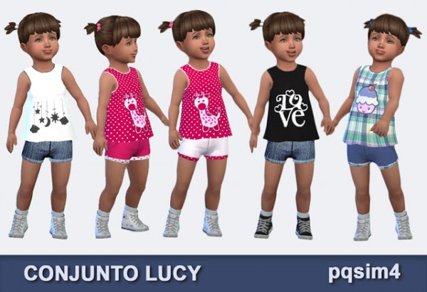 PQSims4: Lucy set   top and shorts