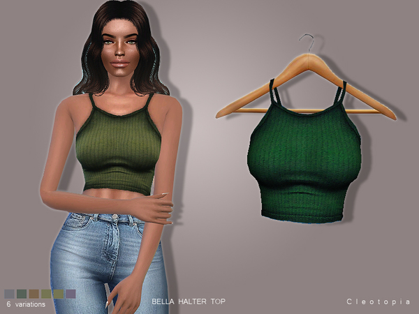 The Sims Resource: Set 75  Bella Halter Top by Cleotopia