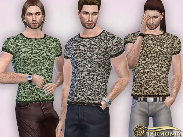 The Sims Resource: Baroque Lace T Shirt by Harmonia