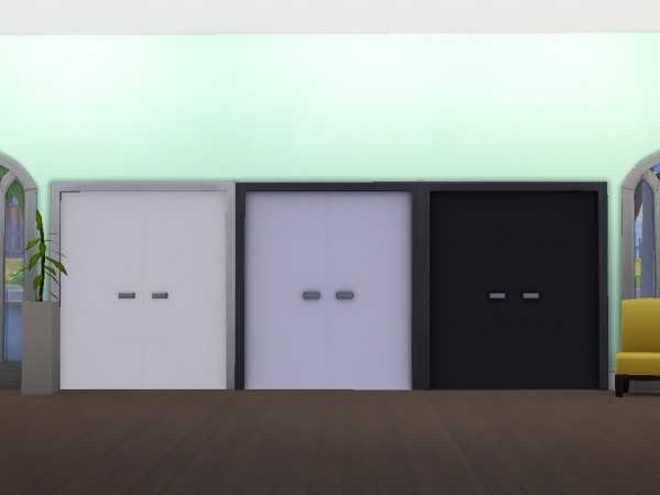 Mod The Sims: Modern White and Black Doors by simsessa