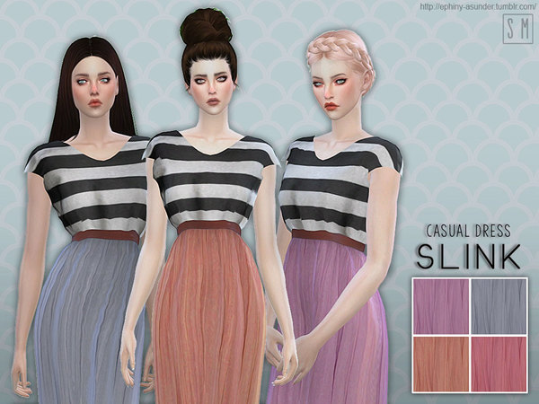 The Sims Resource: Slink   Casual Dress by Screaming Mustard