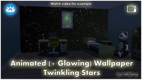 Mod The Sims: Animated Wallpaper   Twinkling Stars by Bakie