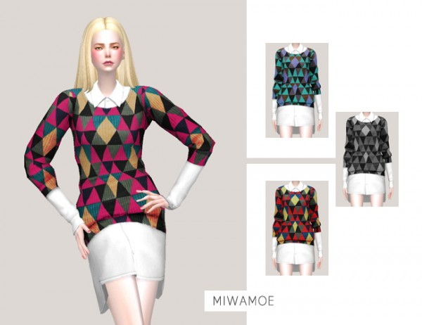 Miwamoe: Sweater Top Dress