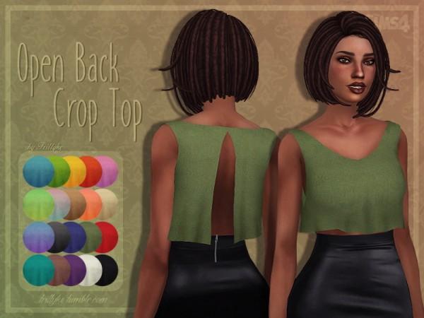 Trillyke: Open Back Crop Top