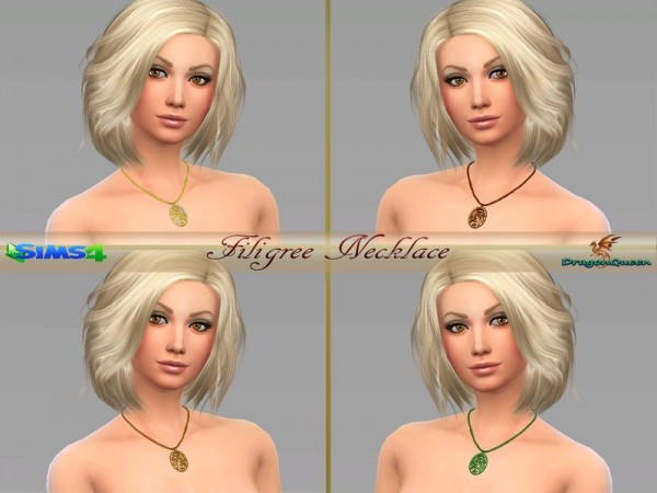 The Sims Resource: Filigree Necklace by DragonQueen