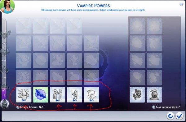 Mod The Sims: Free Vampire Perks by ddplace