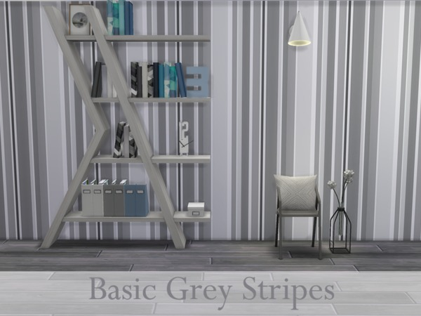 The Sims Resource: Basic Grey Stripes walls by Devenyyy