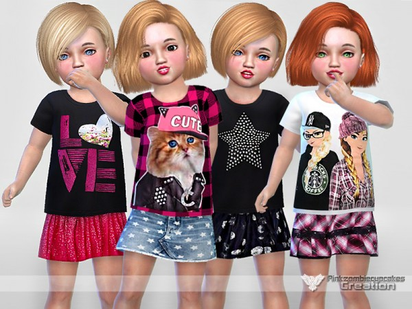 The Sims Resource: Toddler Everyday Collection 02 by Pinkzombiecupcakes