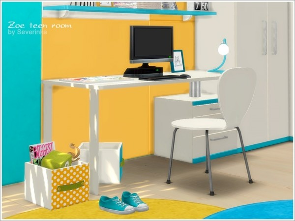 The Sims Resource: Zoe teen room furniture by Severinka