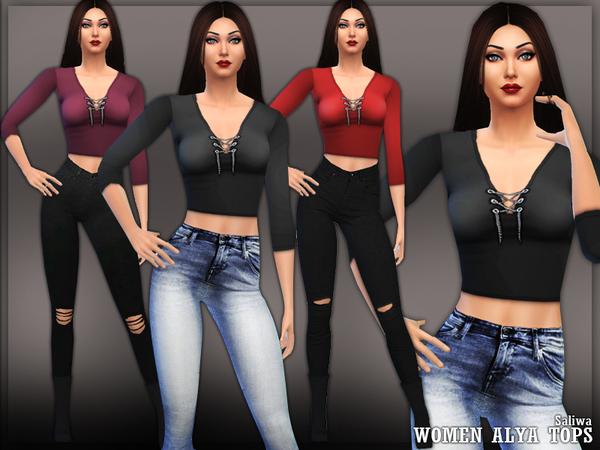 The Sims Resource: Alya Tops by Saliwa