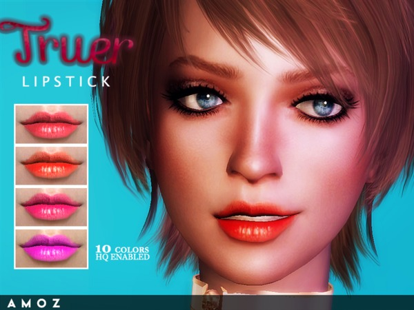 The Sims Resource: Truer Lipstick by Amoz.