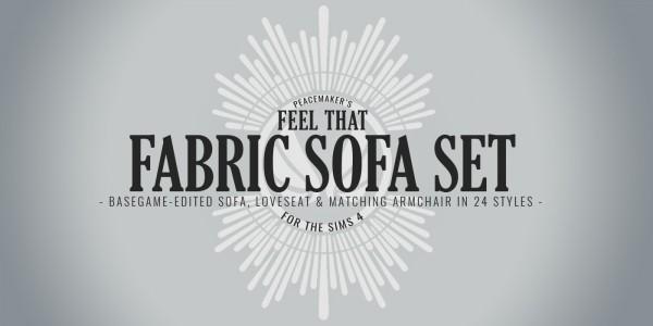 Simsational designs: Feel That Fabric Sofa Set Redux