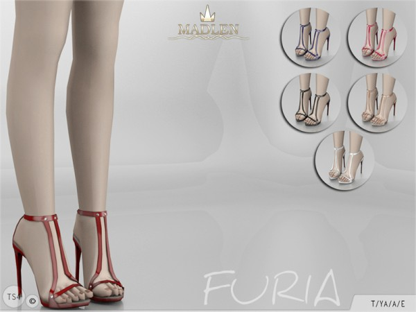 The Sims Resource: Madlen Furia Shoes by MJ95