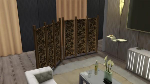 La Luna Rossa Sims: Partition with Curtains
