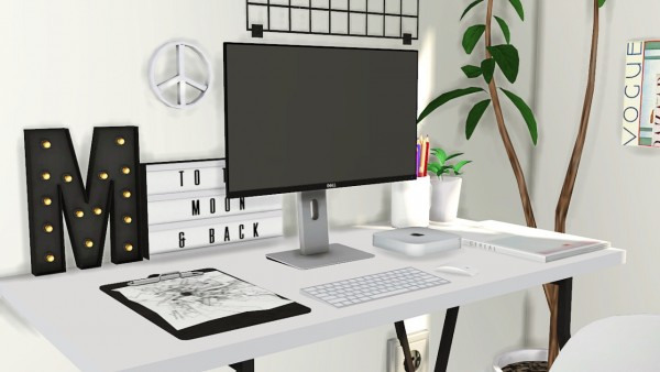 MXIMS: DELL U2414H Monitor, Mac Mini, ClipBoard and LightBox