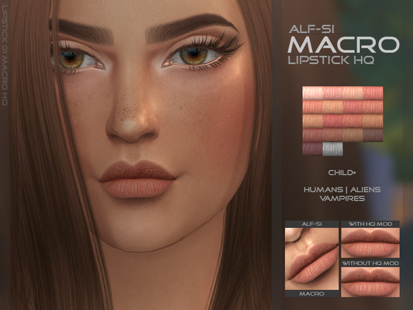 The Sims Resource: Macro   Lipstick HQ  by Alf Si