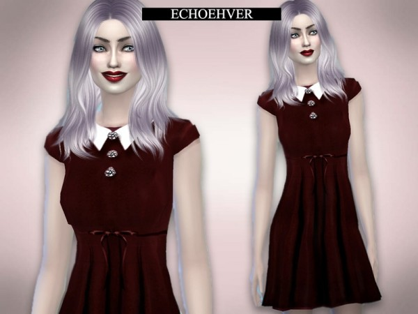 The Sims Resource Vampire Doll Dress By Echoehver Sims