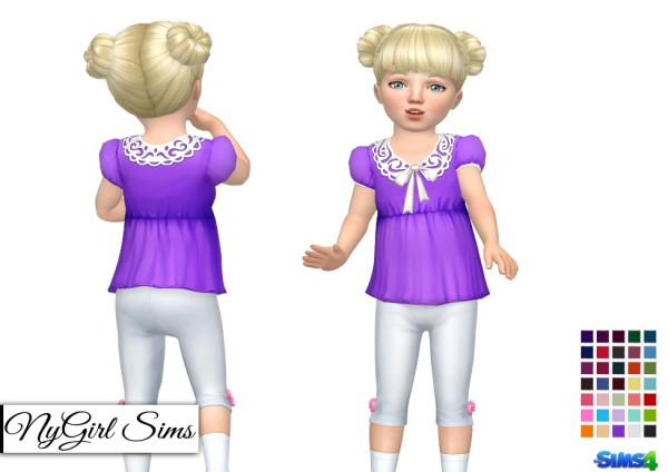 NY Girl Sims: Collar and Bow Shirt