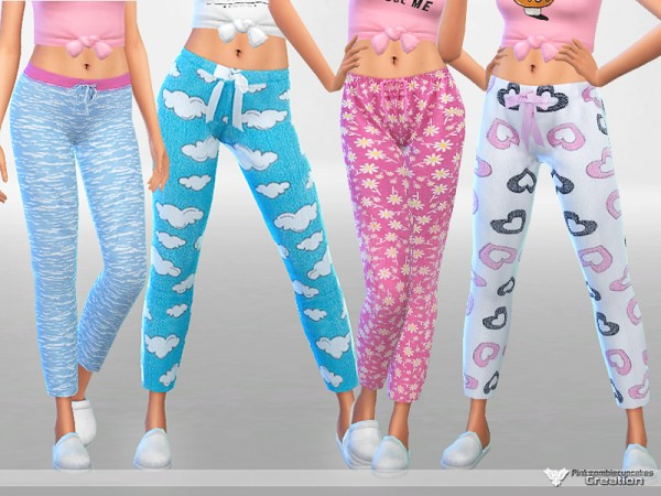 The Sims Resource: Soft Dreams Pajama Pants Collection by Pinkzombiecupcakes