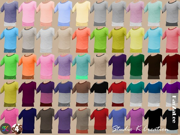 Studio K Creation: Giruto 13 Layer Tee   Solid  recolors