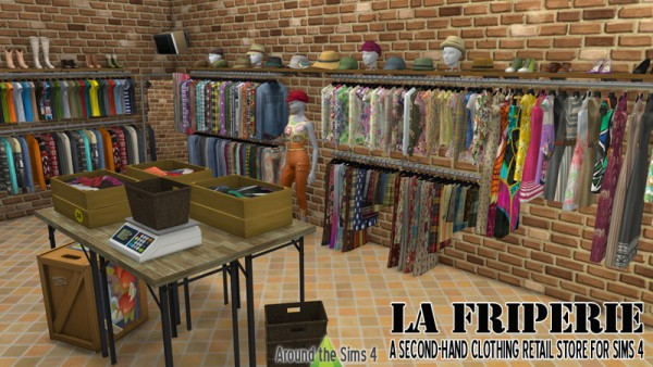 Around The Sims 4 La Friperie A Second Hand Clothing