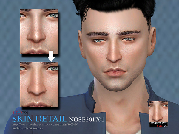 The Sims Resource: Skin Detail Nose201701 by S club