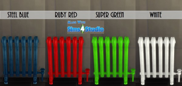 Mod The Sims: Modern Iron Radiator 12 SolidColours by wendy35pearly