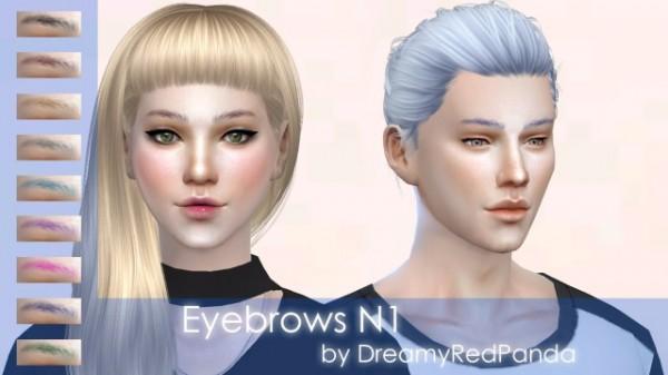 The Sims Models: Eyebrows 1 by DreamyRedPanda