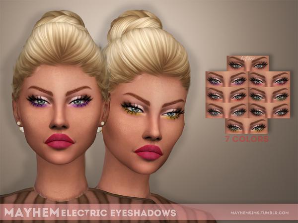 The Sims Resource: Electric Eyeshadows by mayhem sims