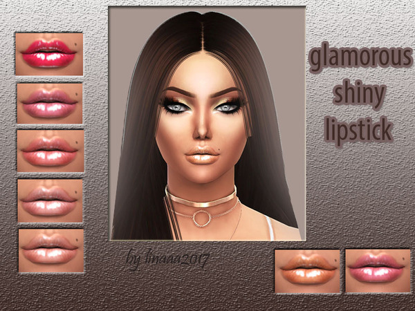 The Sims Resource: Glamorous shiny lipstick by linaaa2017
