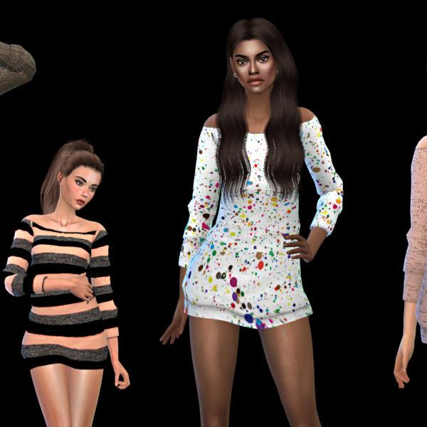 Leo 4 Sims: Polina Sweater Dress