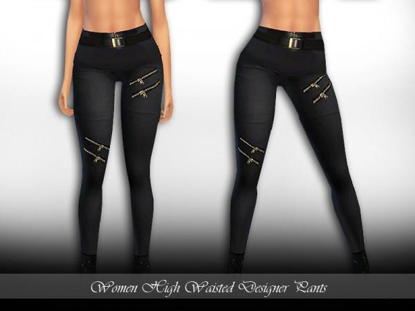 The Sims Resource: High Waisted Skinny Pants by Saliwa