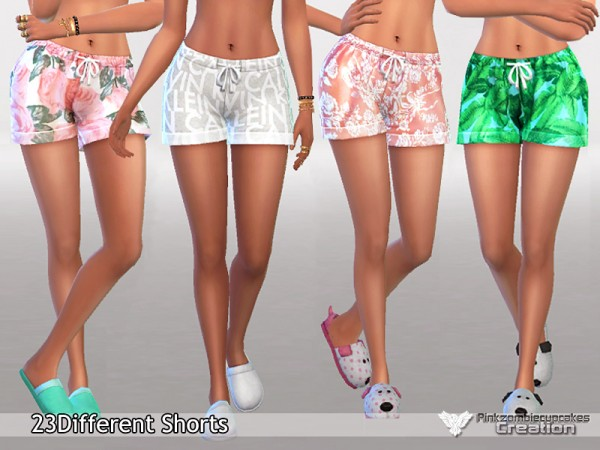 The Sims Resource: Pajama Shorts Pack Waiting for Spring