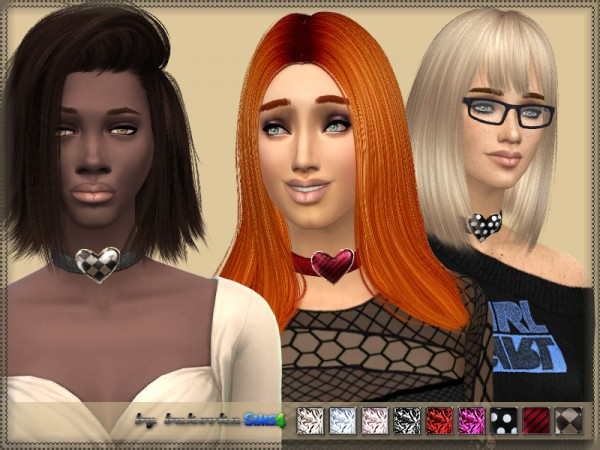 The Sims Resource: Necklace Heart by bukovka
