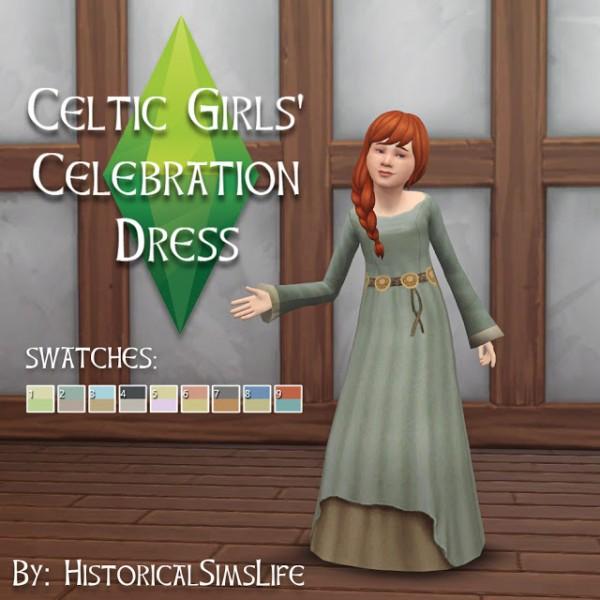 History Lovers Sims Blog: Celtic Girls Celebration Dress