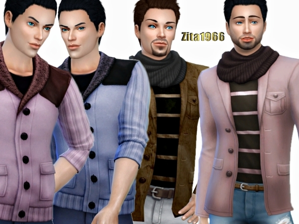 The Sims Resource: The Man   Various Jackets by ZitaRossouw