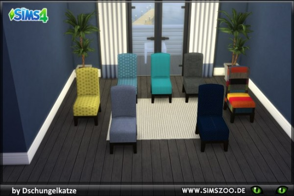 Blackys Sims 4 Zoo: Armchair colorful by Dschungelkatze