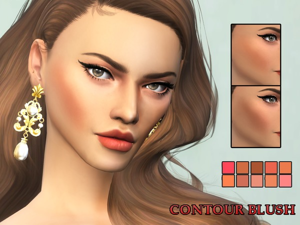 The Sims Resource: KM Contour Blush by Kitty.Meow