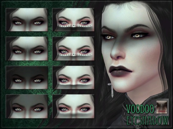 The Sims Resource: Voodoo Eyeshadow by RemusSirion