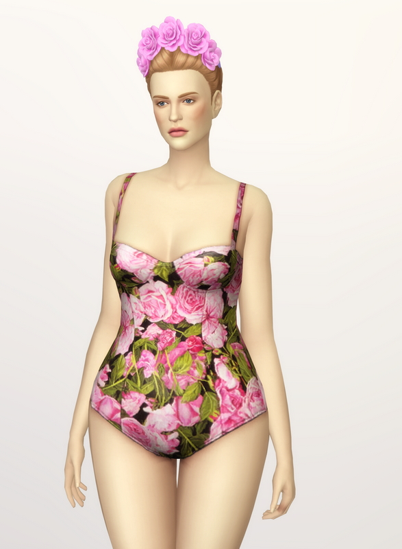 Rusty Nail: Printed floral swimsuit