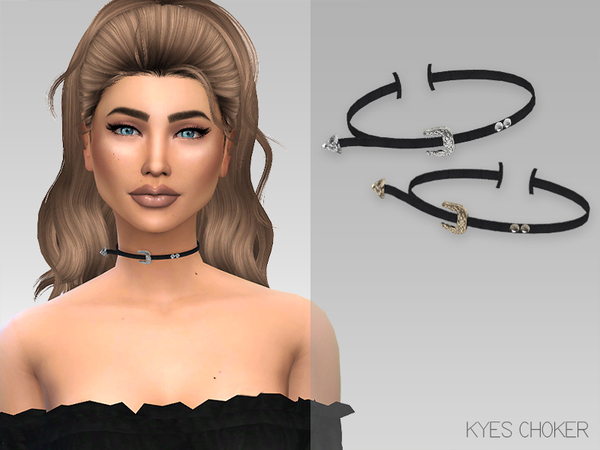 The Sims Resource: Kyes Choker by GrafitySims