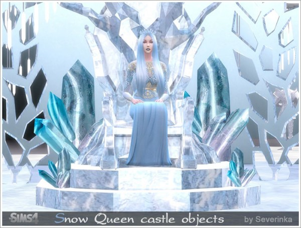 sims by severinka snow queen castle objects sims 4 downloads