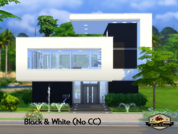 Mod The Sims Black And White House No Cc By Mamba Black