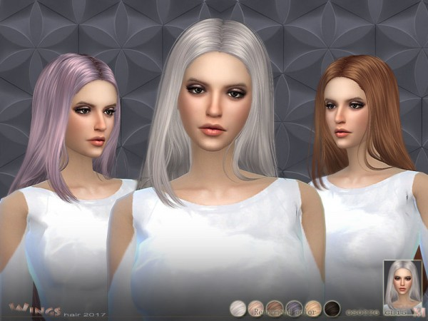 The Sims Resource: WINGS OS0226 hairstyle