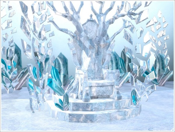 Sims By Severinka Snow Queen Castle Objects Sims 4