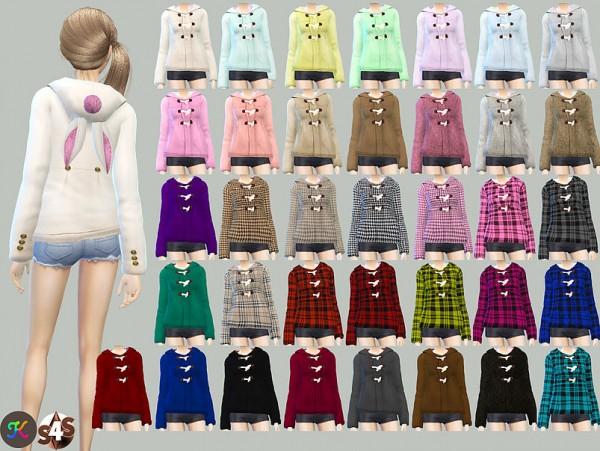 Studio K Creation: Rabbit Ear Hoodie Coat
