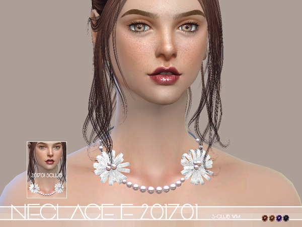 The Sims Resource: Necklace F 201701 by S club