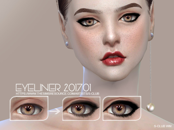 The Sims Resource: Eyeliner 201701 by S Club